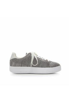 Kadın Açık Gri Kumaş Spor Ayakkabı 7YKAY4044X