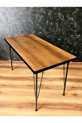 Yirmi15 Metal Sezen Barok Ceviz Renk 60x120cm Mutfak Masası 0