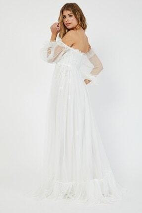 Shine İstanbul Hayal Tül Beyaz Elbise 1