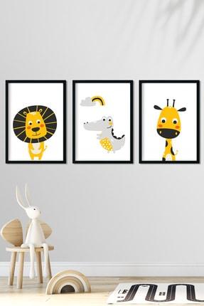Norm Design Bebek & Çocuk Odası Çerçeveli Poster Tablo Seti 0