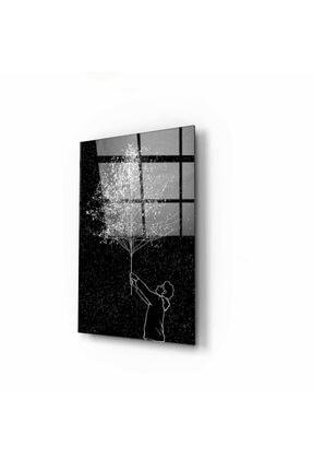 Pi Dekorasyon Ağaç Cam Tablo 50x70 Cm 0