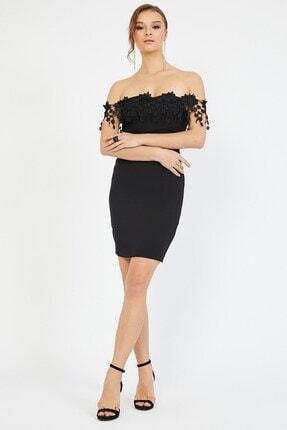 Shine İstanbul Omuz Güpürlü Mini Elbise 3