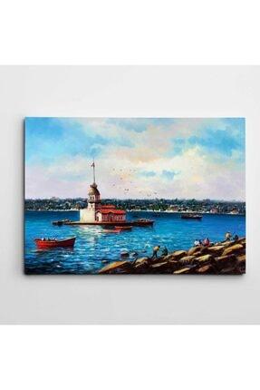 Dekolata Kız Kulesi Manzarası Kanvas Tablo 30 x 40 cm 0