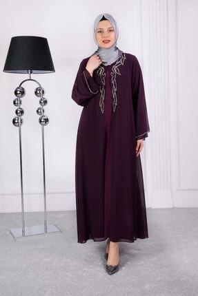 behrem Lale Abiye Elbise Mürdüm 53008 0