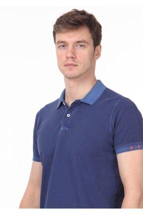 Ramsey Erkek İndigo Düz Örme T - Shirt RP10120144 1