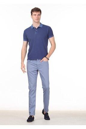 Ramsey Erkek İndigo Düz Örme T - Shirt RP10120144 2