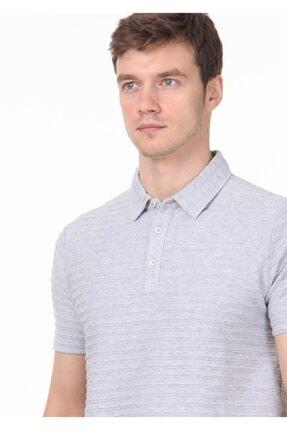 Ramsey Erkek Açık Gri Jakarlı Örme T - Shirt RP10119771 1