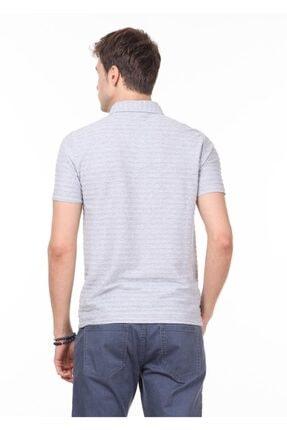 Ramsey Erkek Açık Gri Jakarlı Örme T - Shirt RP10119771 3