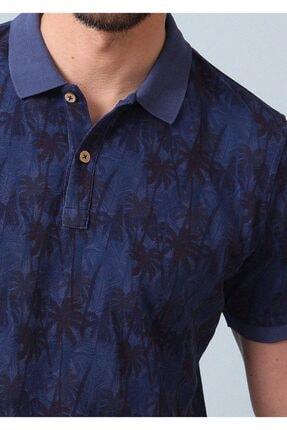 Ramsey Erkek İndigo Düz Örme T - Shirt RP10120074 1