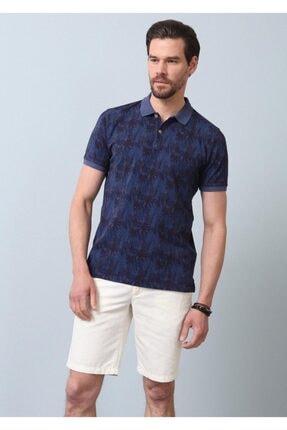 Ramsey Erkek İndigo Düz Örme T - Shirt RP10120074 3