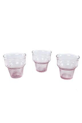 Paşabahçe Dondurmalık, Mini Cornet Pembe 6'lı Set (410006) 2