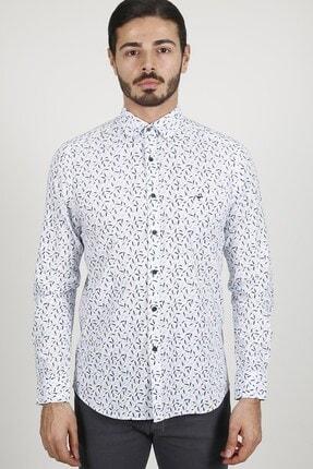 Jakamen Mavi Slim Fit Gömlek 0