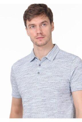 Ramsey Erkek İndigo Jakarlı Örme T - Shirt RP10119897 1