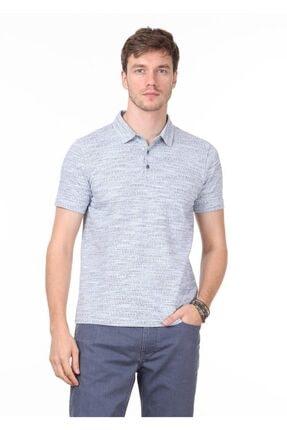Ramsey Erkek İndigo Jakarlı Örme T - Shirt RP10119897 2