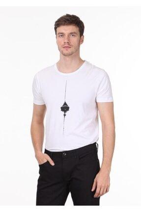 Ramsey Erkek Beyaz Baskılı Örme T - Shirt RP10120145 0