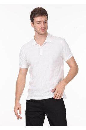 Ramsey Erkek Beyaz Jakarlı Örme T - Shirt RP10119893 0