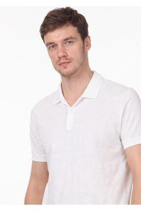 Ramsey Erkek Beyaz Jakarlı Örme T - Shirt RP10119893 1