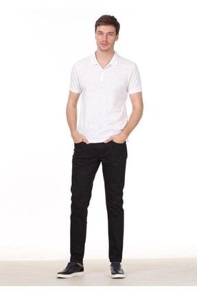 Ramsey Erkek Beyaz Jakarlı Örme T - Shirt RP10119893 2