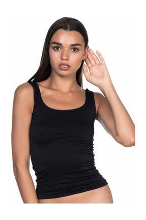 Emay Siyah Mı 5002 Soft Kalın Askılı Uzun Atlet 0