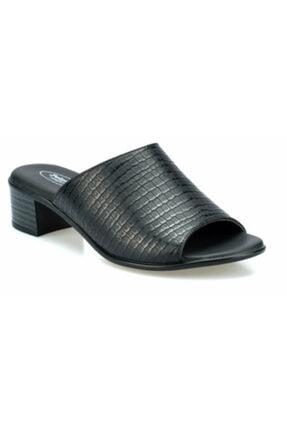 Polaris 161028 Siyah Renk Rahat Taban Kadın Günlük Topuklu Terlik 0