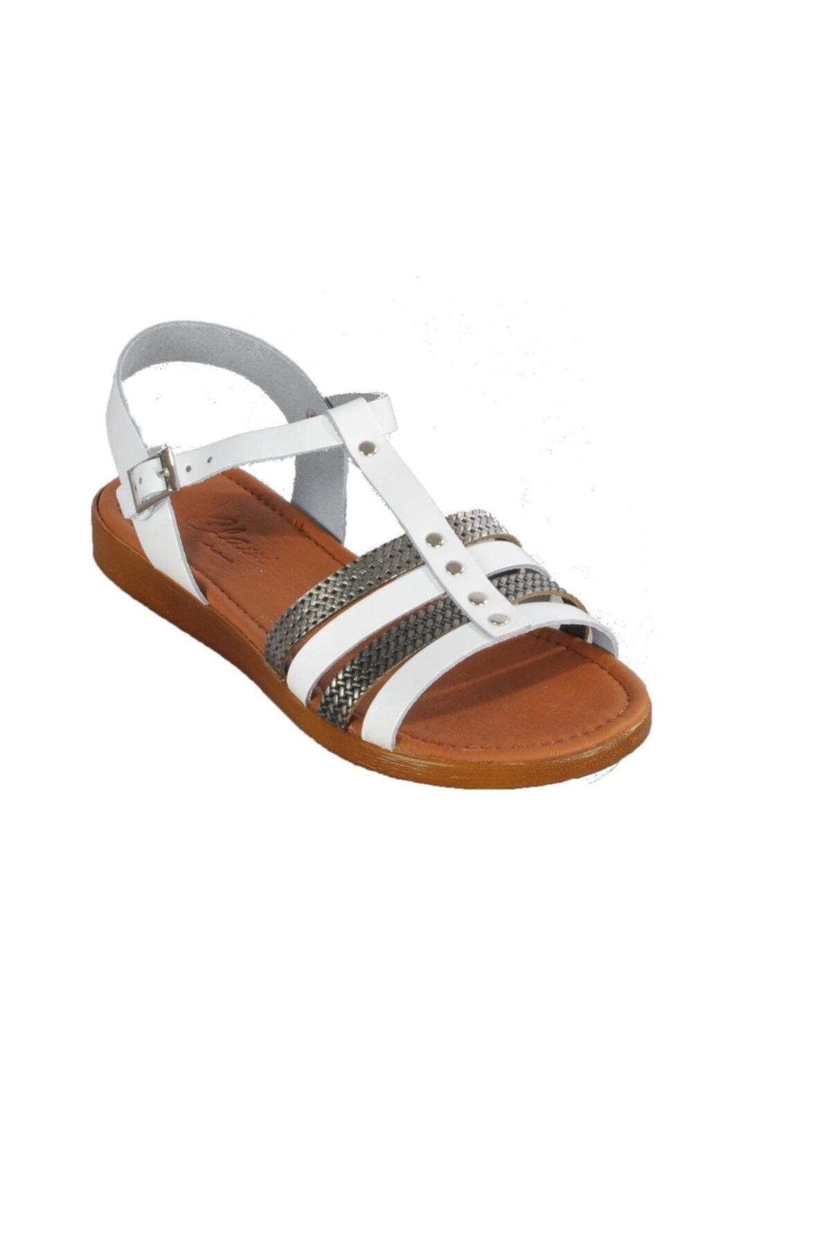 Clavi Kadın Beyaz Sandalet