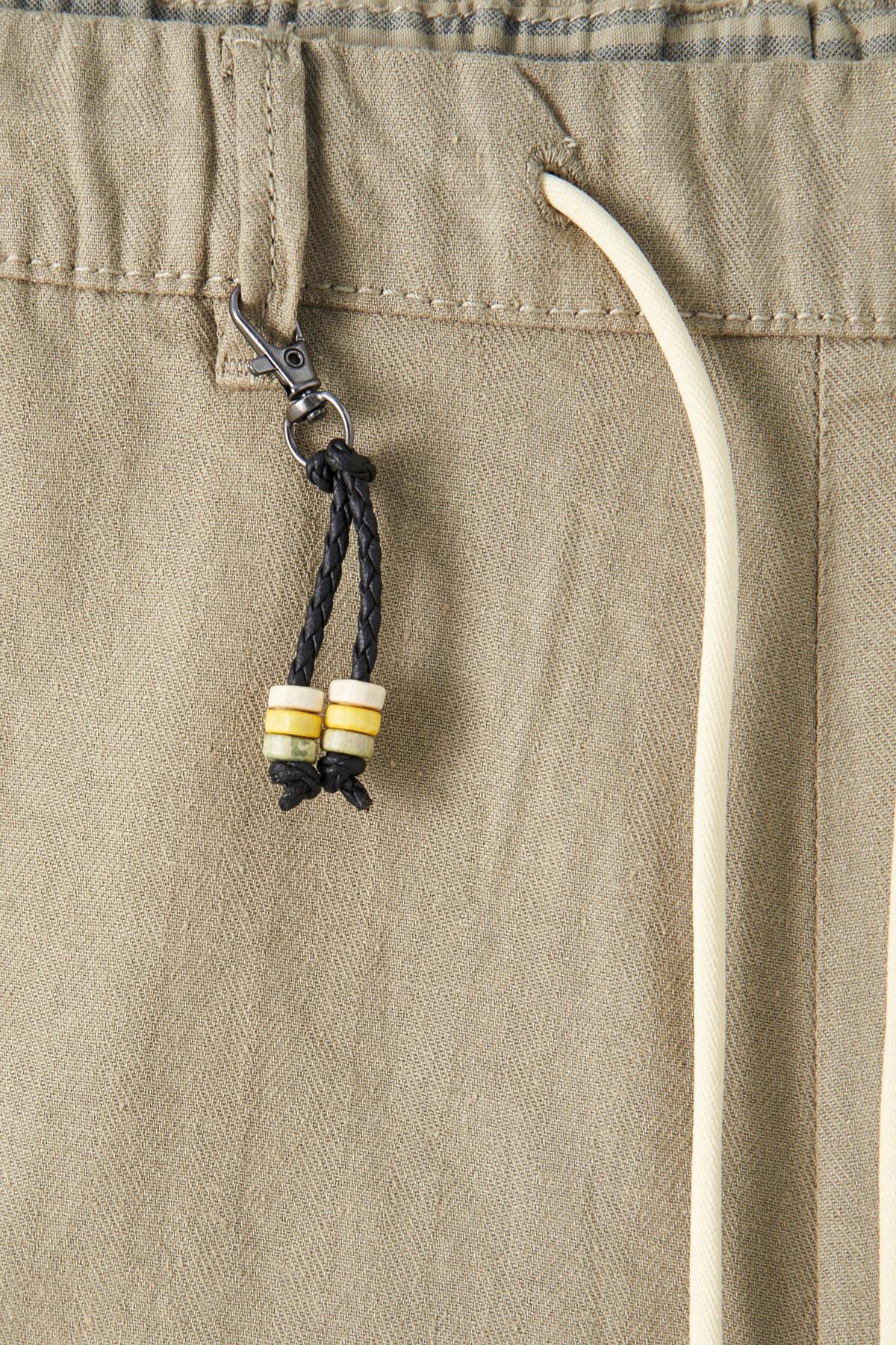 Pull & Bear Erkek Haki Keten Chino Model Bermuda 09695501 2