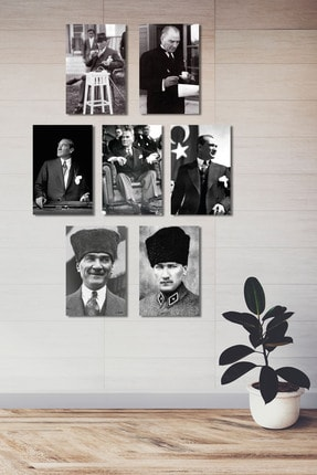 Dijital360 Atatürk Ahşap -mdf Poster (7 Adet 20x30 Cm) 0