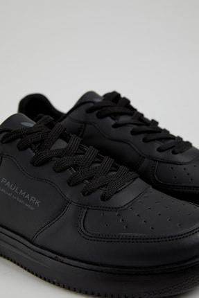 PAULMARK Erkek Siyah Spor Ayakkabı 4