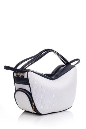 Tonny Black Kadın Çanta Çoklu Kullanıma Uygun Beyaz Lacivert Tbc04 2