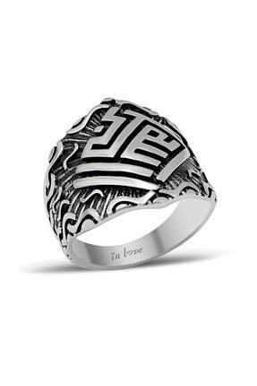 In Love Erkek Yüzük Yeni Tasarım Taşsız Gümüş 1