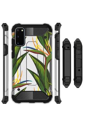 cupcase Samsung Galaxy S20 Plus Kılıf Desenli Sert Korumalı Zırh Tank Kapak - Doğa 0
