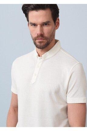 Ramsey Erkek Ekru Jakarlı Örme T - Shirt RP10119895 1