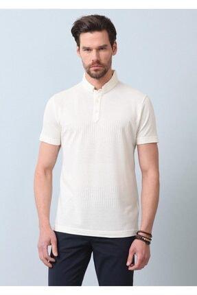 Ramsey Erkek Ekru Jakarlı Örme T - Shirt RP10119895 2