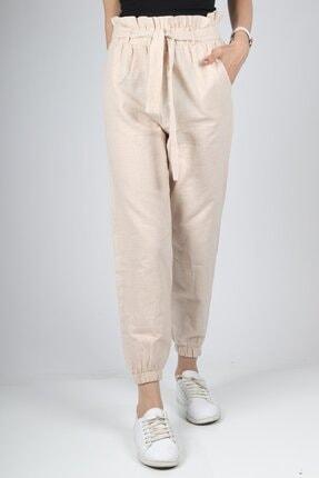 HAKKE Kadın Vizyon Bel Kurdele Paça Lastik Pantolon 0