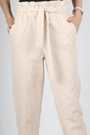 HAKKE Kadın Vizyon Bel Kurdele Paça Lastik Pantolon 1
