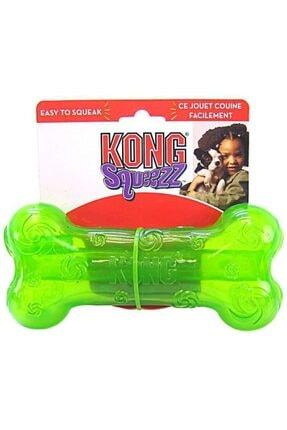 Kong Squeezz Kemik Köpek Oyuncak - Yeşil 0