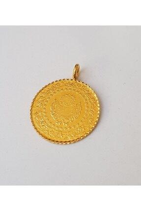 TURKUAZ 22 Ayar Altın Kaplama Kulplu Tarihli Imitasyon Çeyrek Altın 1