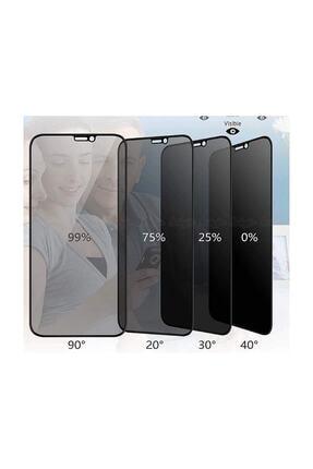 Omelo Huawei P40 Lite Kırılmaz Ekran Koruyucu Gizlilik Filtreli Hayalet Cam Komple Kapatan Cam Hediyeli 2