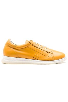 GRADA Sarı Hakiki Deri Günlük Casual Kadın Ayakkabı 1