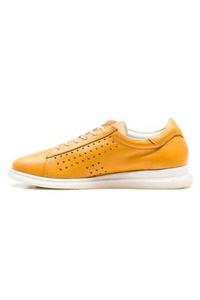 GRADA Sarı Hakiki Deri Günlük Casual Kadın Ayakkabı 2