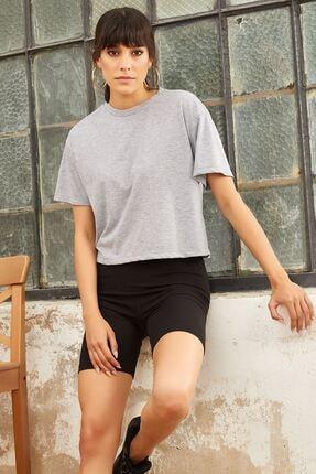 Mispacoz T-shirt Tayt Ikili Takım - Gri 1