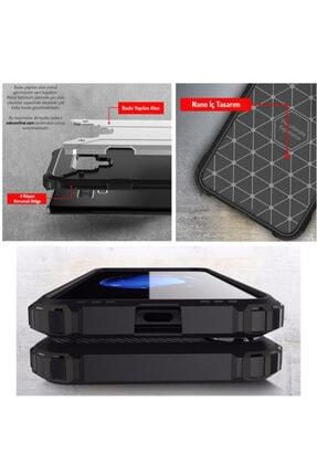 cupcase Huawei Mate 20 Pro Kılıf Desenli Sert Korumalı Zırh Tank Kapak - Mavi Benekler 4