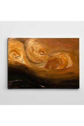 Dekolata Karamel Soyut Modern Sanat Kanvas Tablo 0