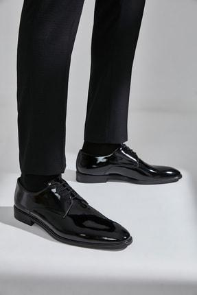 Hotiç Hakiki Deri Siyah Erkek Klasik Ayakkabı 0