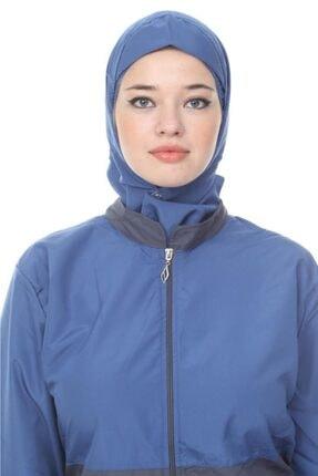 Modamihram Kadın Mavi Biye Detaylı Büyük Beden Haşema 1