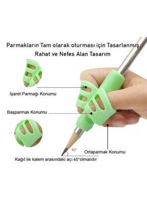 Aksh Pencil Grip Kolay Kalem Tutamağı Kavrama Yazı Yazma Tutuş Düzeltme Yardımcı Pembe 1