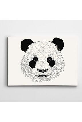 Dekolata Sevimli Panda Kanvas Tablo 50x70 cm 0