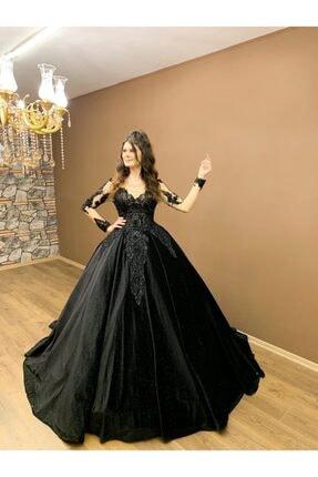 Womentic Bridal Siyah Nişanlık Abiye 1