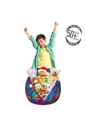 Rengirenk Çocuk Bitki Oyuncak Hurcu Mor Ağırlıklı Güzel Dekoratif Çiçekli Görsel 1