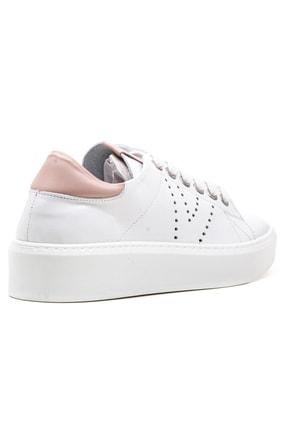 GRADA Kadın Beyaz Bağcıklı Hakiki Deri Spor Günlük Ayakkabı 3
